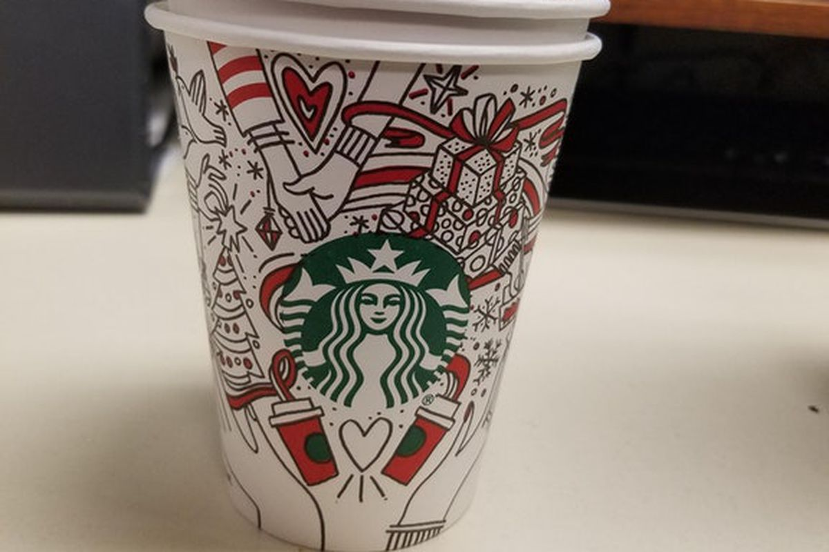 is this the new starbucks holiday cup design? - eater