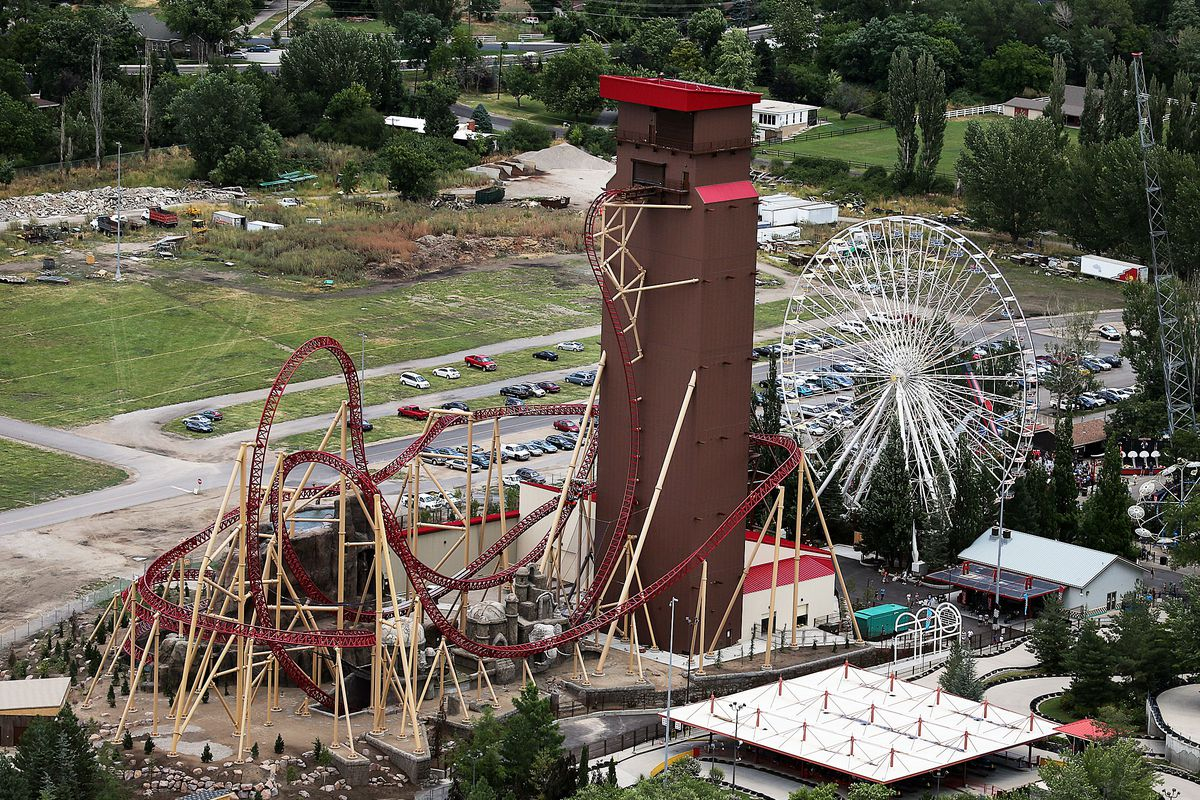 The Cannibal roller coaster is pictured at Lagoon in Farmington on Friday, July 10, 2015.