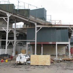 One more view of the back of the center-field bleachers from Waveland