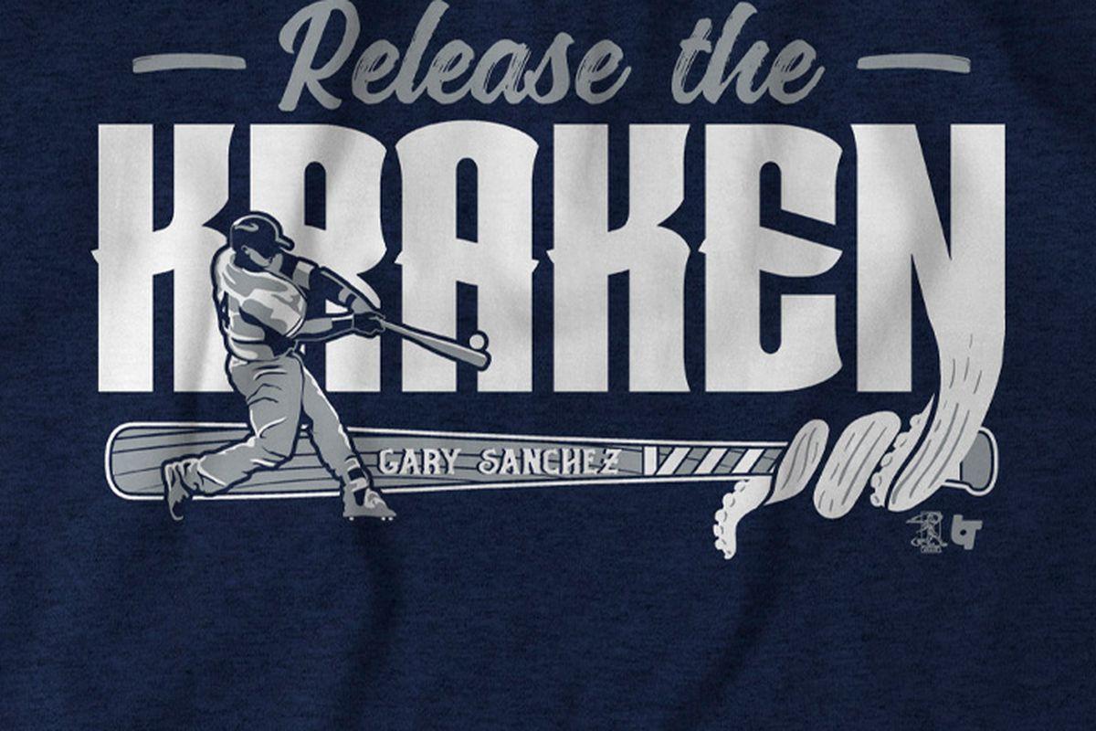 san francisco 0645e ce9cc Release the Kraken with a new Gary Sanchez t-shirt ...