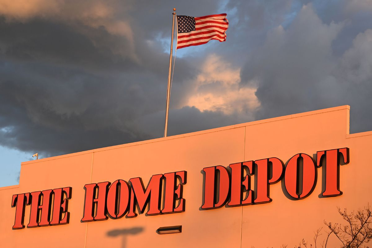 A Home Depot store in Burbank, California is seen on February 18, 2019.