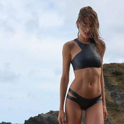 The ideal, edgy neoprene surfer girl bikini set.