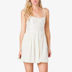 """<b>Forever 21</b> Lace Spaghetti Strap Dress, <a href=""""http://www.forever21.com/Product/Product.aspx?BR=f21&Category=dress&ProductID=2031556673&VariantID="""">$27.80</a>"""