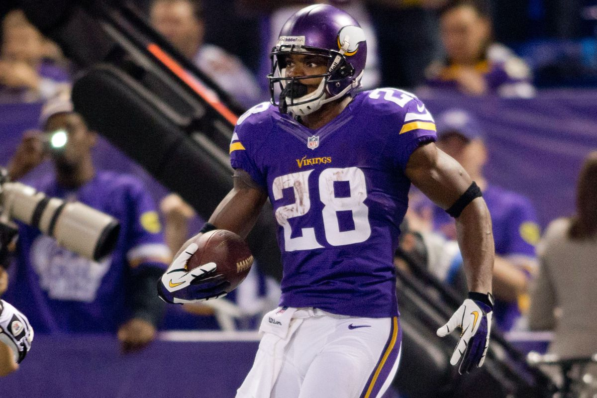 We don't do nearly as many Adrian Peterson pictures as we should.