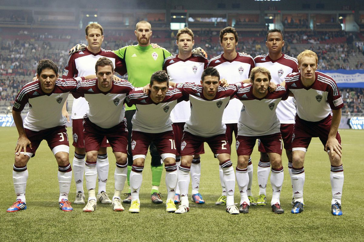VANCOUVER, CANADA - JUNE 16:  The Colorado Rapids starting 11 against the Vancouver Whitecaps FC during their MLS game June 16, 2012 in Vancouver, British Columbia, Canada. (Photo by Jeff Vinnick/Getty Images)