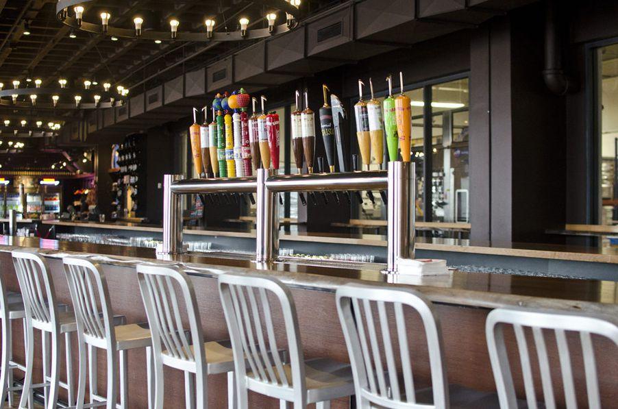 Inside The Harpoon Brewery Beer Hall