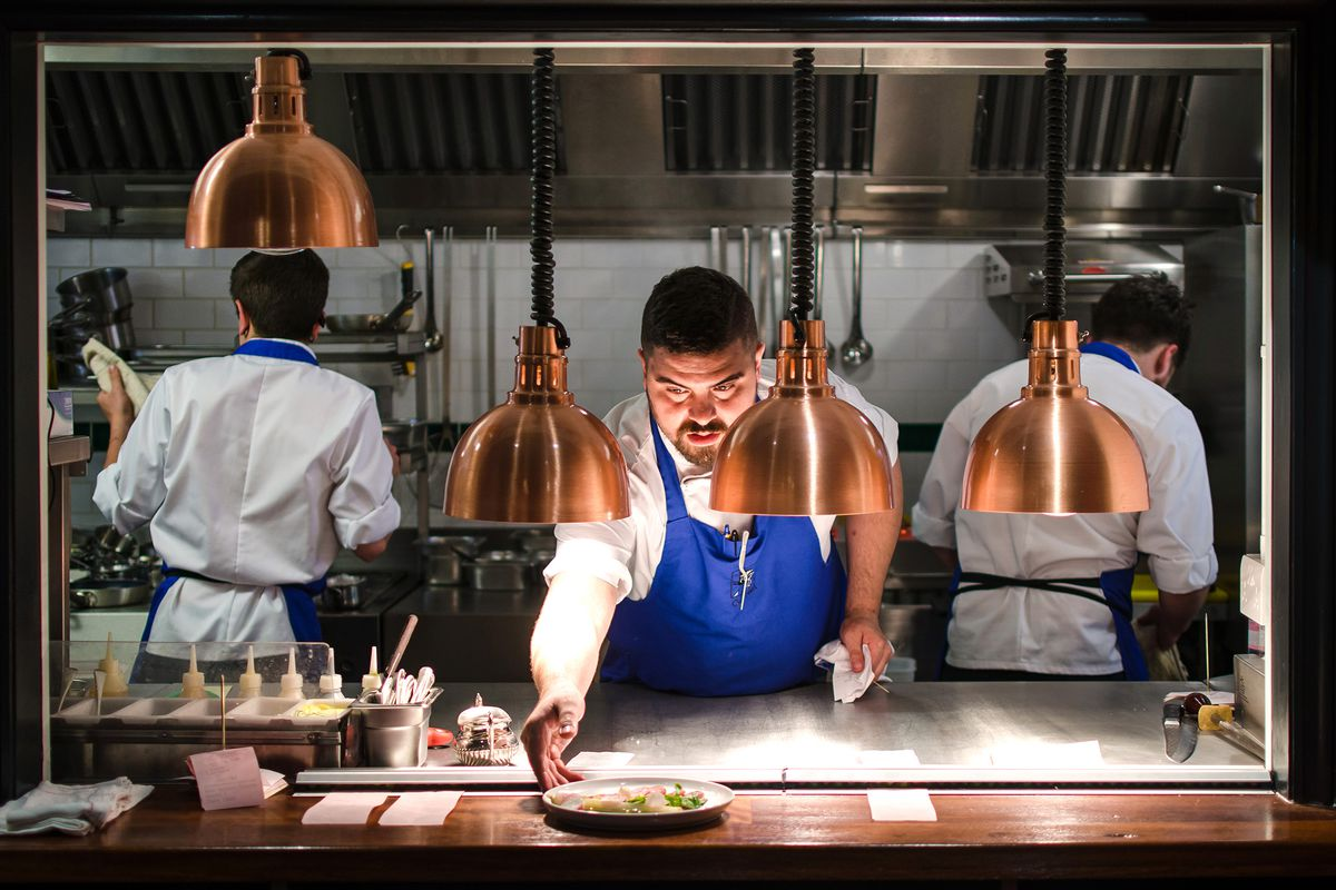 The pass at Cora Pearl, a new restaurant in Covent Garden, London