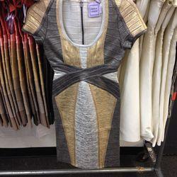 Herve Leger Carolyn dress, $540