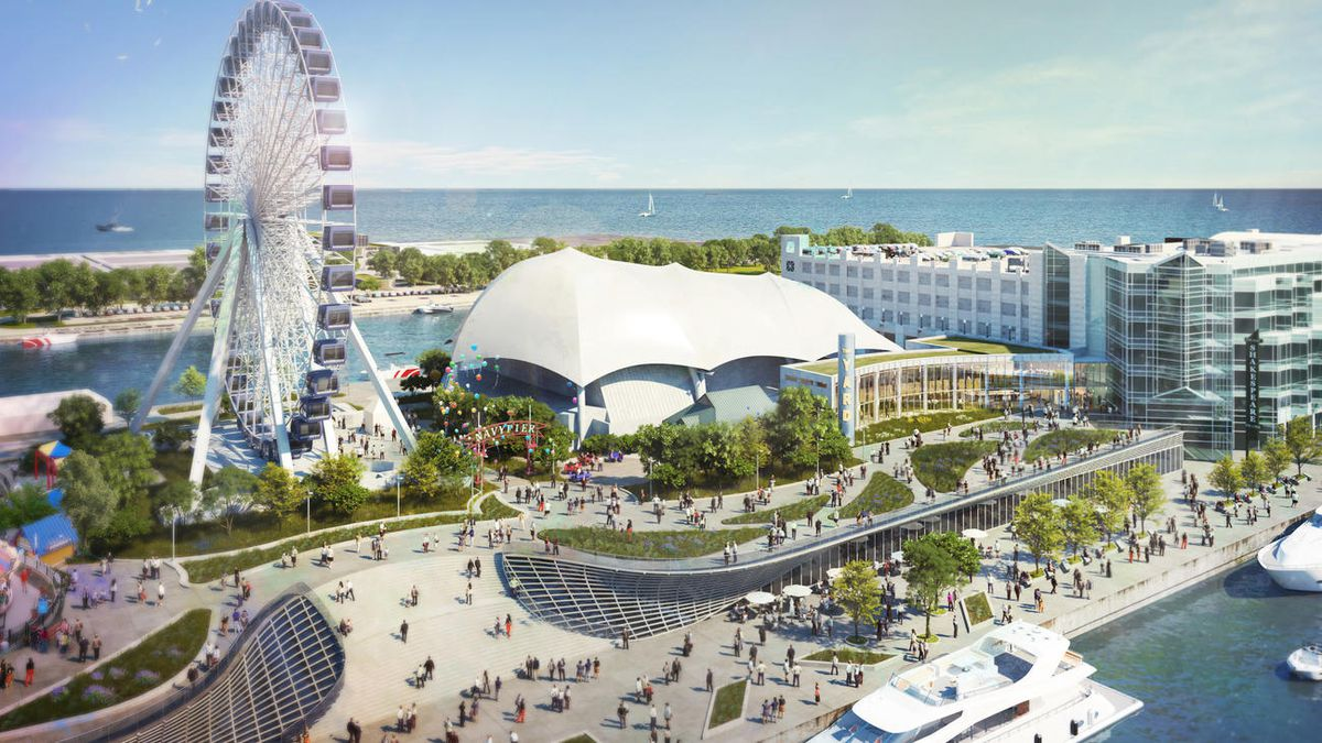 A rendering of The Yard, Chicago Shakespeare Theater's new stage on Navy Pier. | Courtesy Chicago Shakespeare /Adrian Smith + Gordon Gill Architecture