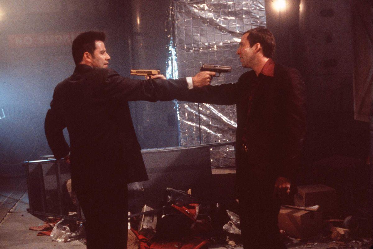 Nicolas Cage And John Travolta In 'Face Off'