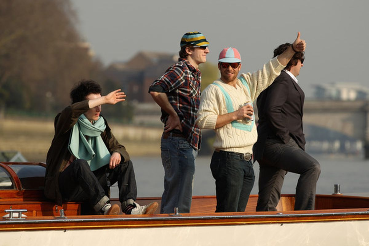 Guys in a boat.
