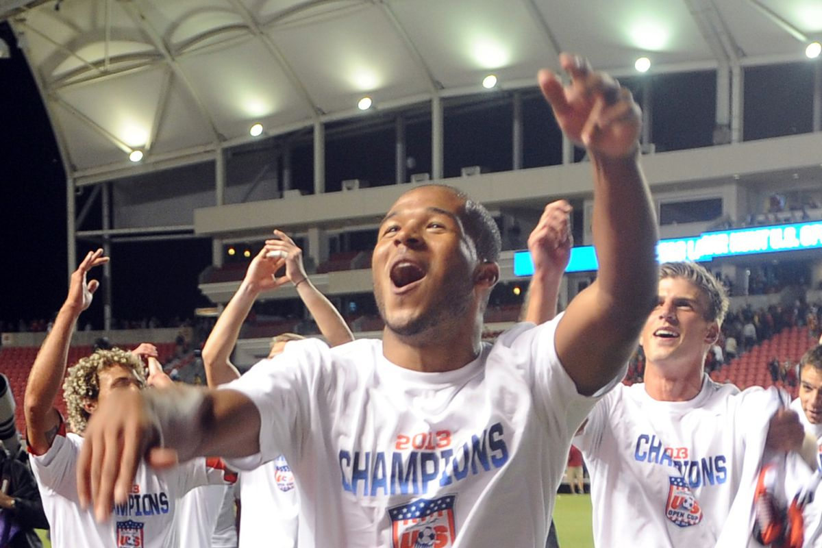Ethan White after DC United won the U.S. Open Cup