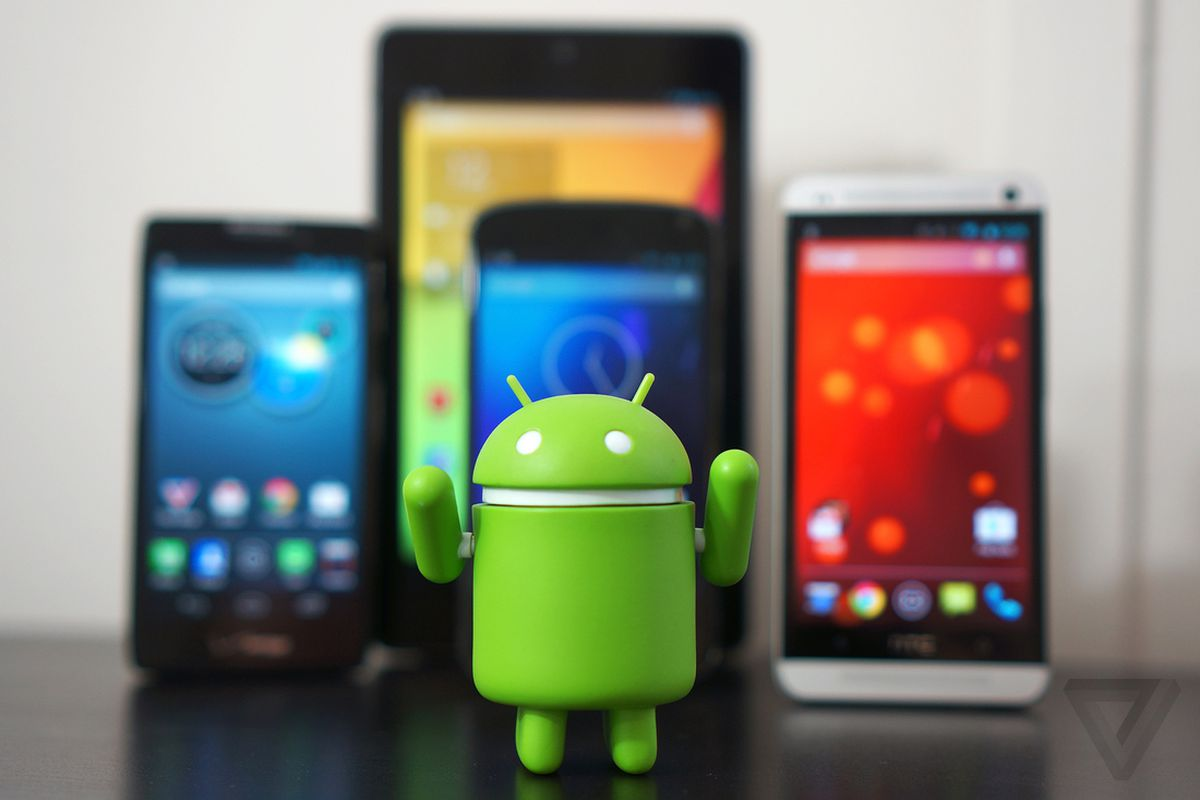 Android Guy with devices