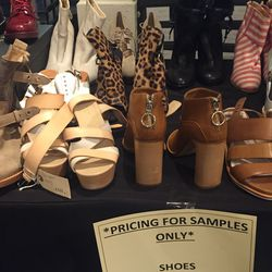 Sample shoes, $70