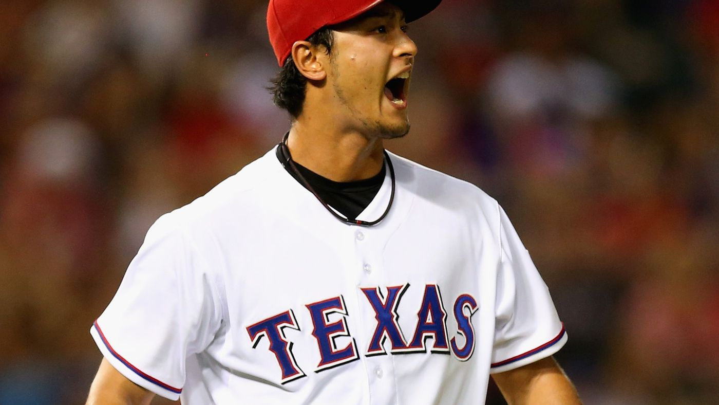 Trevor Plouffe strikes out on Yu Darvish's 61 mph pitch