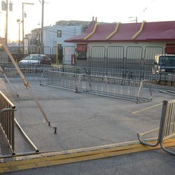 6:38 p.m. Bicycle valet parking, between the Cubs Store and McDonald's -