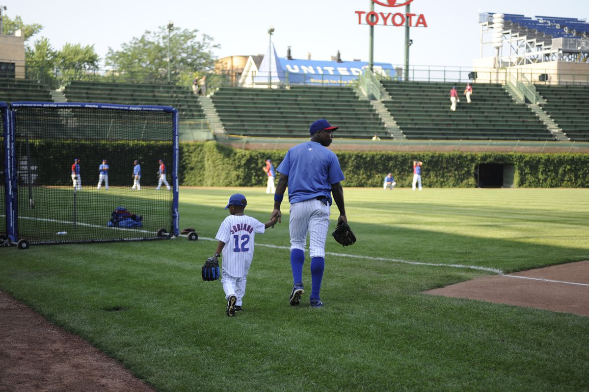 Alfonso Soriano and Son. What are the chances that we are looking at two All-Stars in this photo?