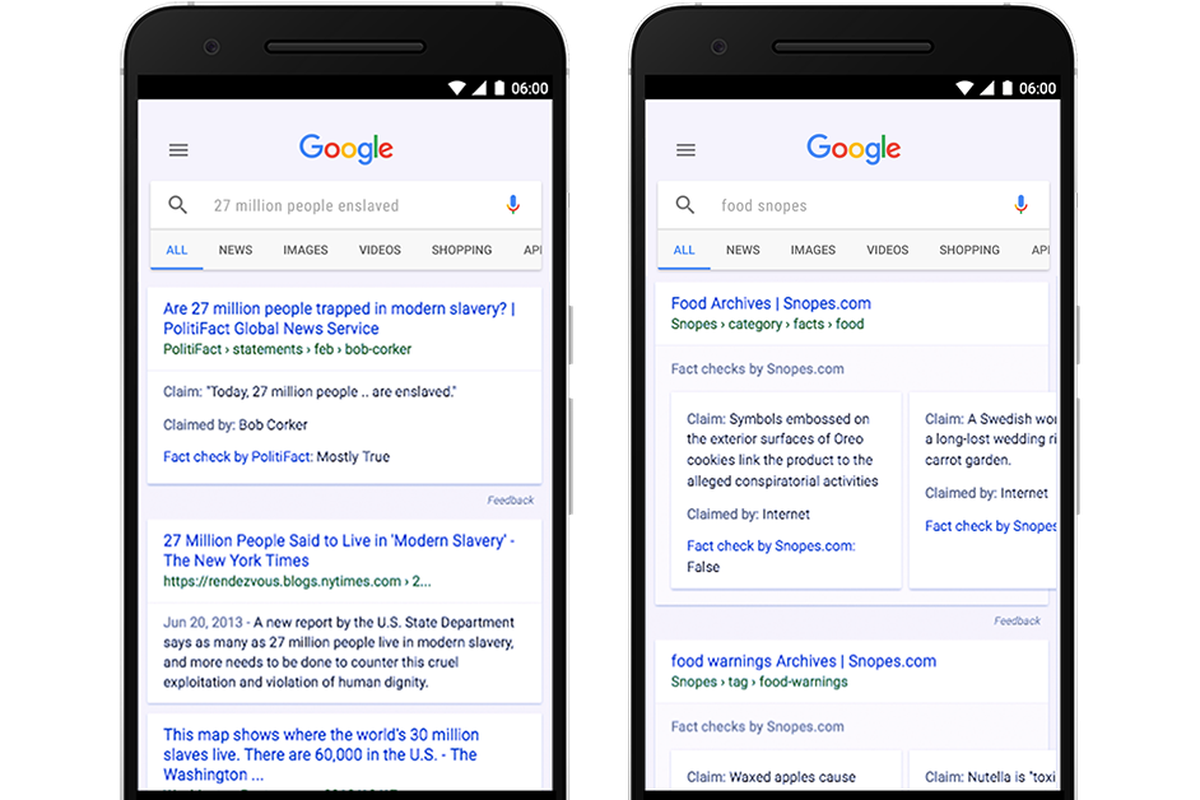 google is rolling out a fact check feature in its search and news