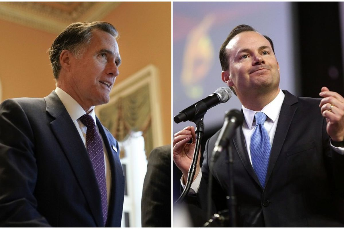 FILE - Utah GOP Sens. Mike Lee and Mitt Romney voted against the massive bipartisan federal budget deal the U.S. Senate passed Thursday and that now heads to the president's desk.