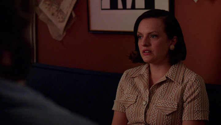 Peggy Olson is played by Elisabeth Moss on Mad Men