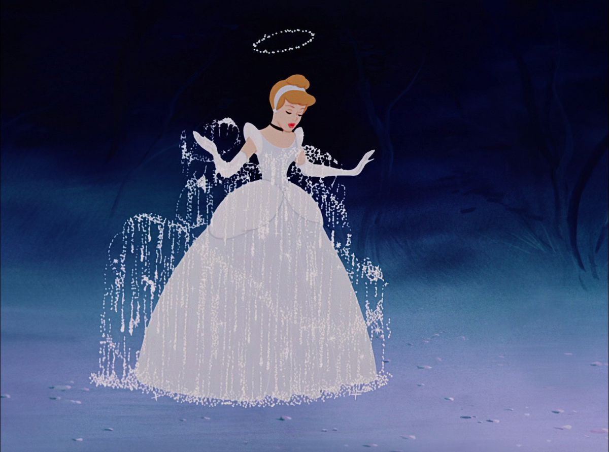 Celebrity Fitness: Cinderella right after the magical dress transformation