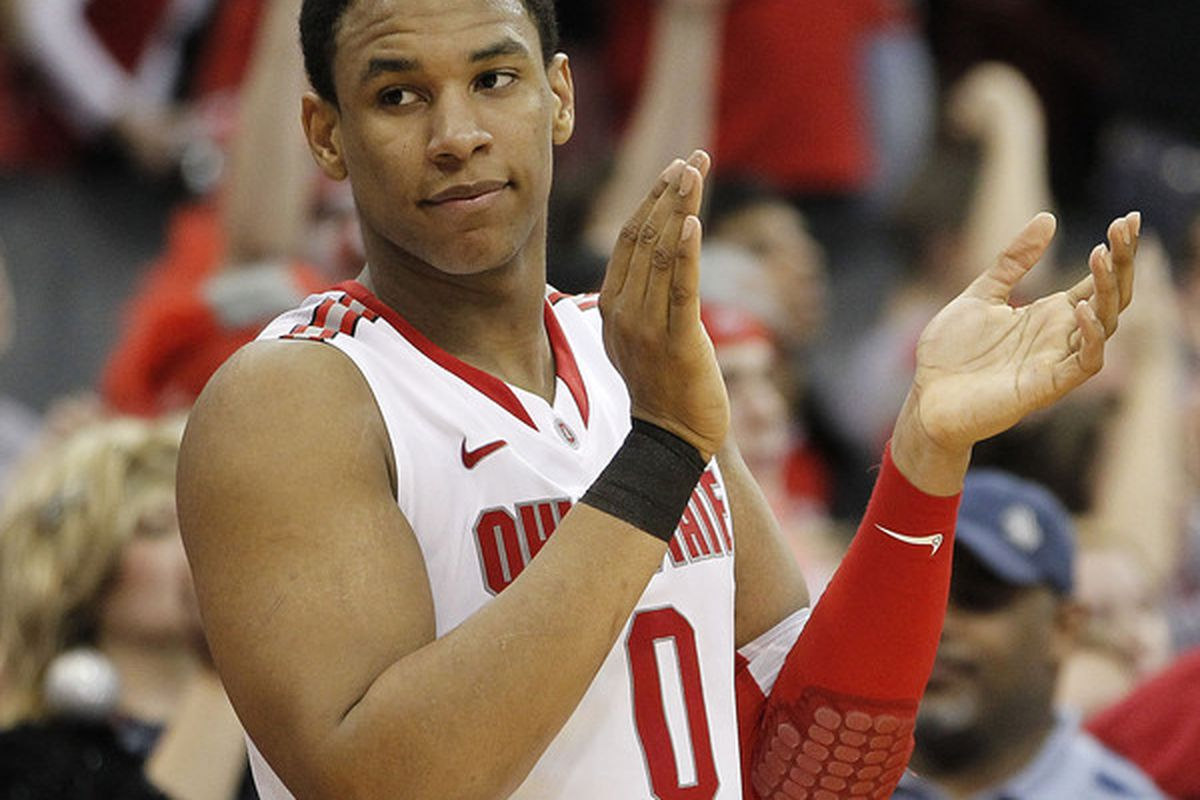 Even after a few road missteps, Jared Sullinger & Ohio State site atop the college basketball world.  (Photo by Gregory Shamus/Getty Images)