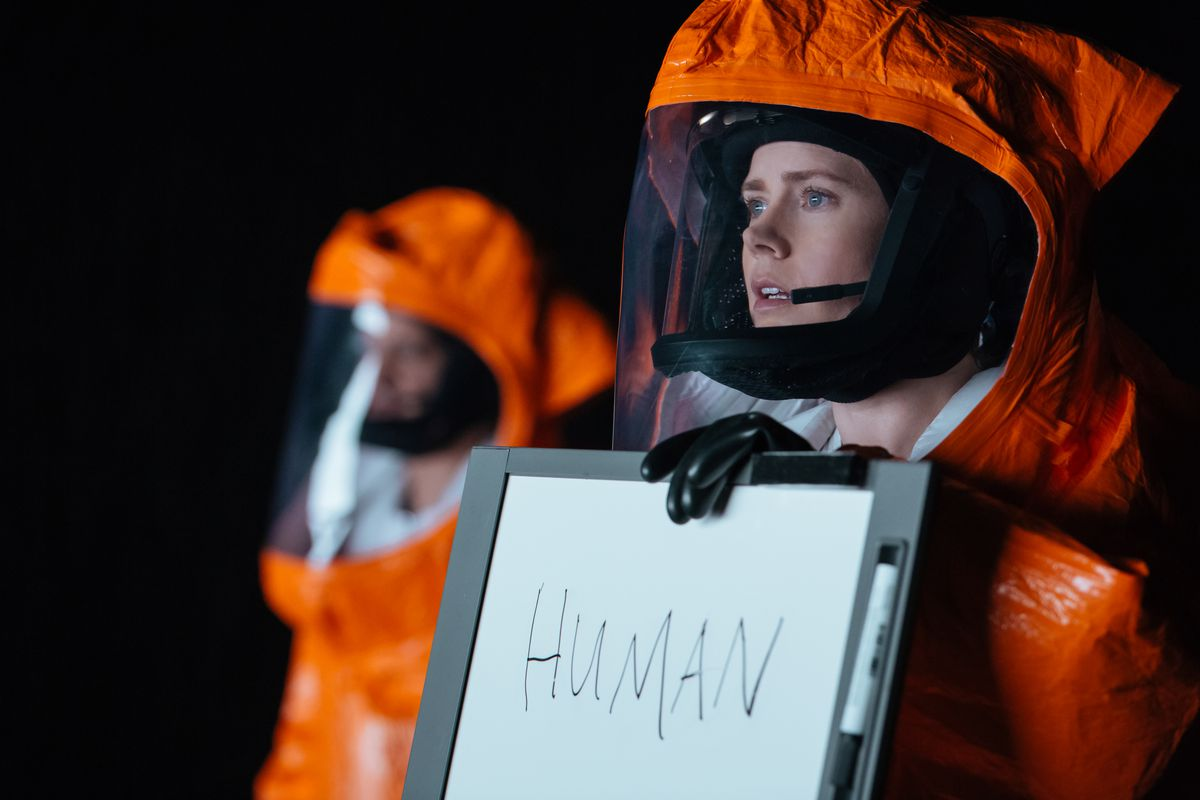Amy Adams in Arrival, which is nominated for 8 Academy Awards (though she is not, which is a real shame)