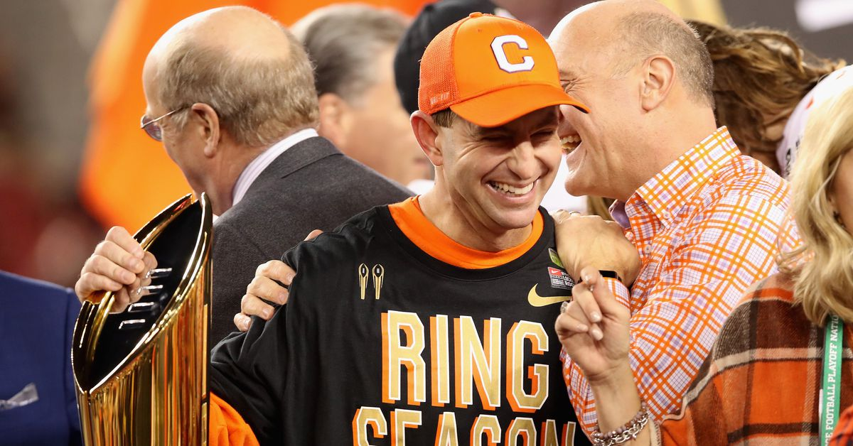 The former walk-on, real estate agent, and interim head coach is now simply one of football's elites.