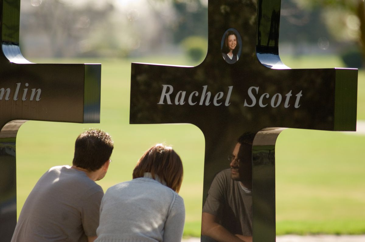 Memorial Marks Anniversary Of Columbine Shootings Days After Va. Shootings