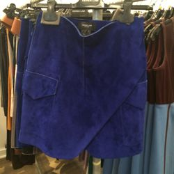 Suede skirt, $395 (from $2,490)
