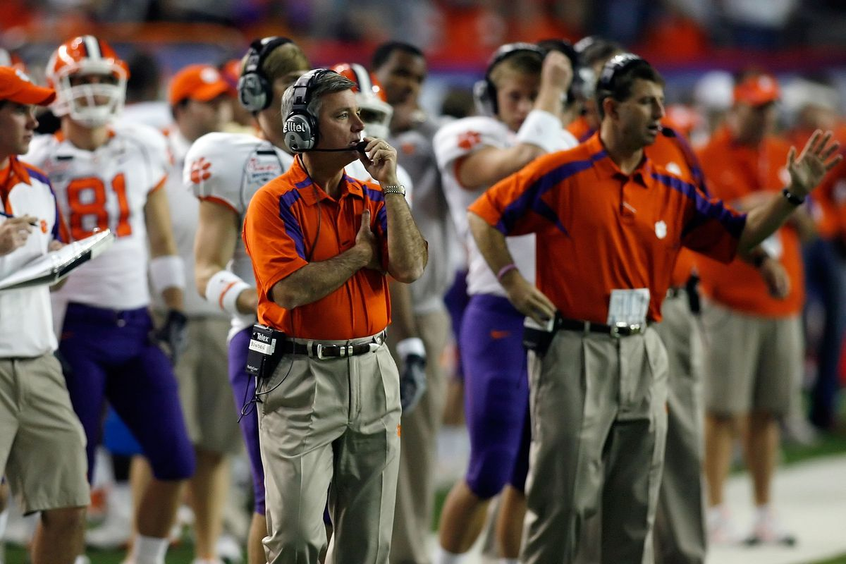 Greatest Football Coaches In Clemson History 7 Tommy Bowden Shakin The Southland