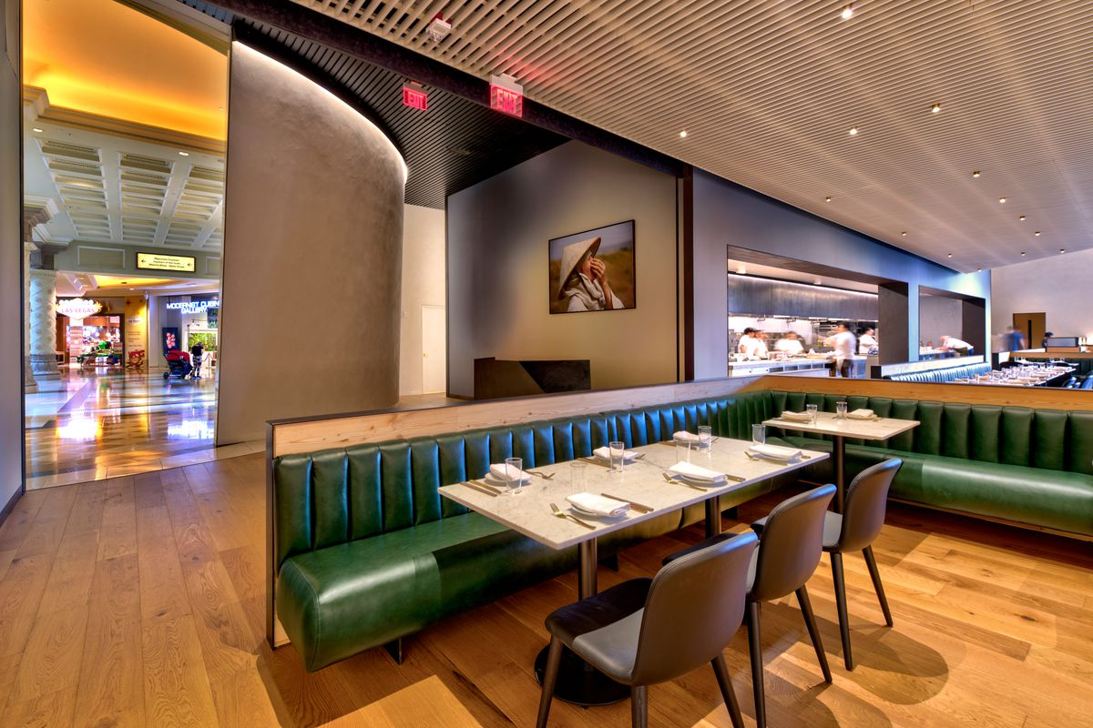 The lounge at the entrance of The Slanted Door
