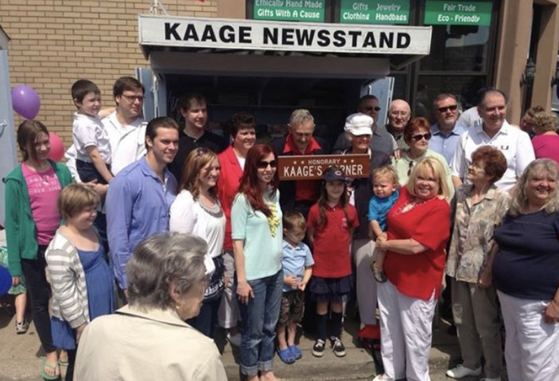 The Kaage family turned out in force in 2012 when their Edison Park newsstand location was designated Kaage's Corner. Irv Kaage Jr. and his wife Muriel Kaage struggled with being cut off from family members when they were quarantined with COVID-19.