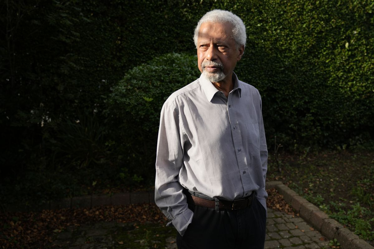 Tanzanian writer Abdulrazak Gurnah at his home in Canterbury, England, Thursday, Oct. 7, 2021. Gurnah was awarded the Nobel Prize for Literature earlier on Thursday.