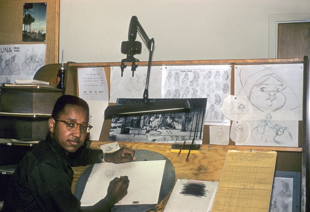 "Animator Floyd Norman works on Disney's ""Sleeping Beauty"" in 1956. | Provided photo"