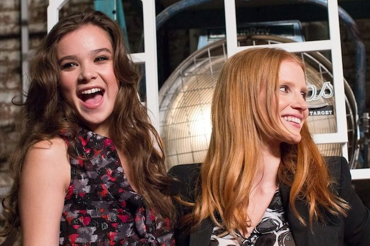 Hailee Steinfeld and Jessica Chastain at the Shops at Target, via Racked NY