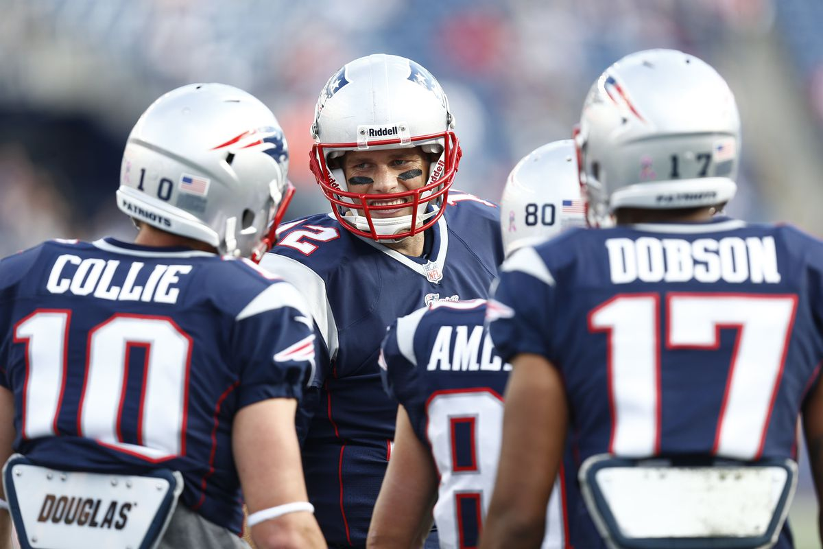 Austin Collie has been picking Tom Brady's mind since arriving at the Patriots