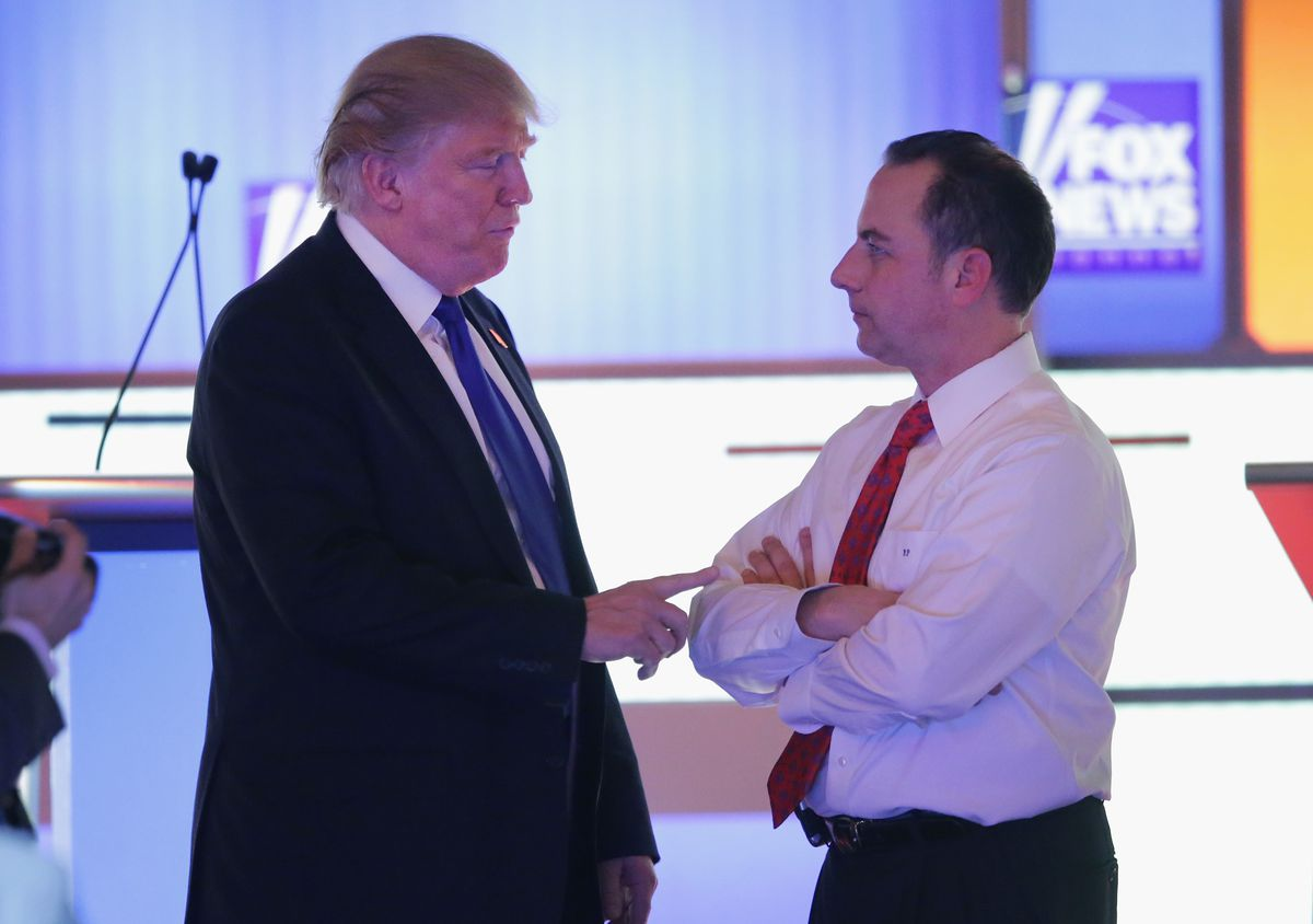 Donald Trump and RNC chair Reince Priebus.