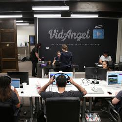Employees work at VidAngel's office in Provo on Wednesday, July 20, 2016.