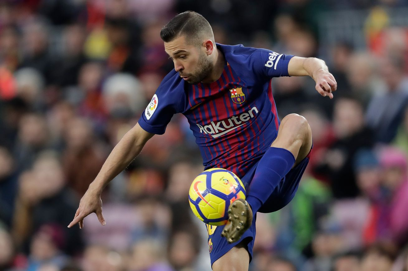 Which Barcelona star is faster Jordi Alba or Ousmane Dembele""
