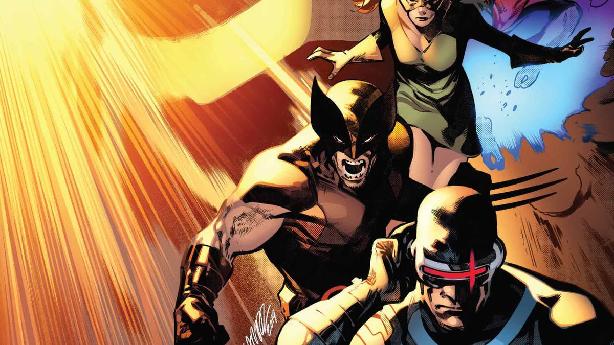 Jean Grey, Wolverine, and Cyclops on the cover of House of X #3, Marvel Comics (2019).