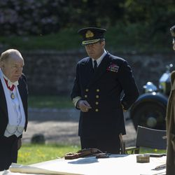 """Brian Cox as Winston Churchill, left, and James Purefoy as King George IV, right, in """"Churchill."""""""