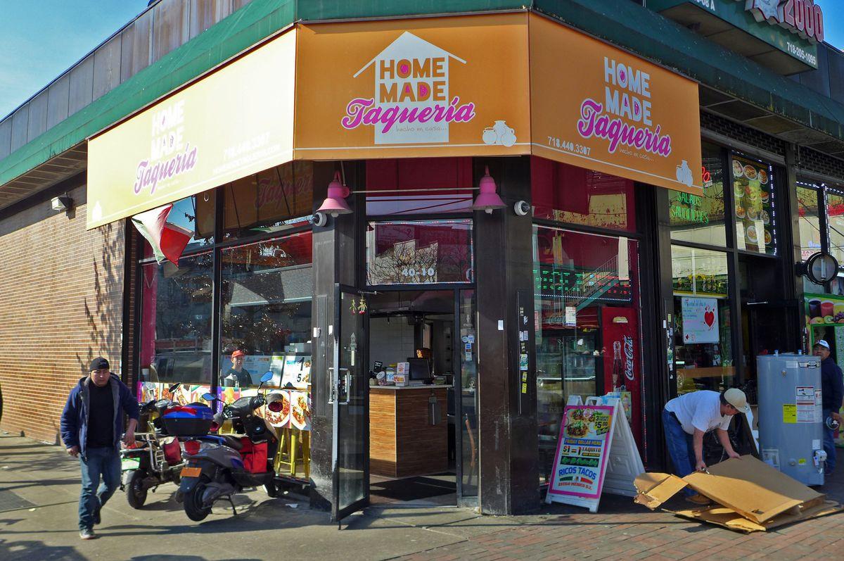 Homemade Taqueria occupies a sunny Corona corner.