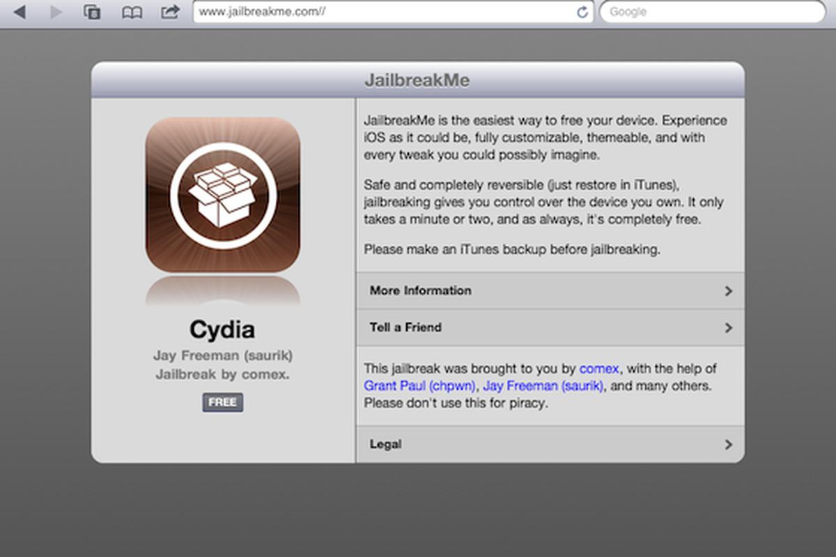 JailbreakMe 3 0 live, iPad 2 jailbreak now available - The Verge