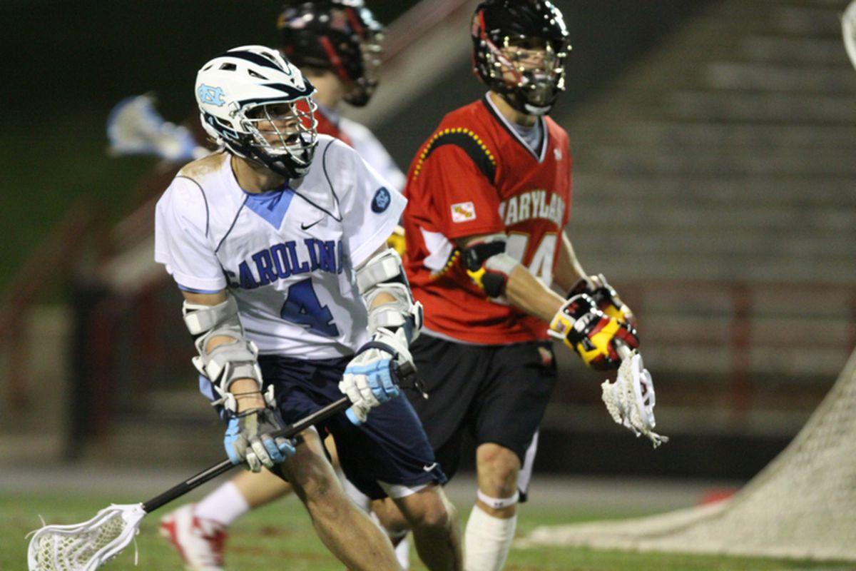 """via <a href=""""http://412.laxallstars.com/files/2011/04/Brett-Schmidt-Maryland-Lacrosse-Billy-Bitter-North-Carolina-Lacrosse.jpeg"""">412.laxallstars.com</a>"""