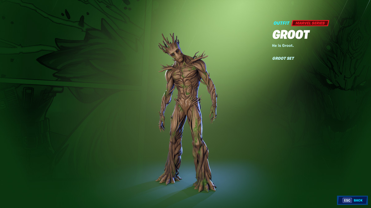 Fortnite's Groot skin