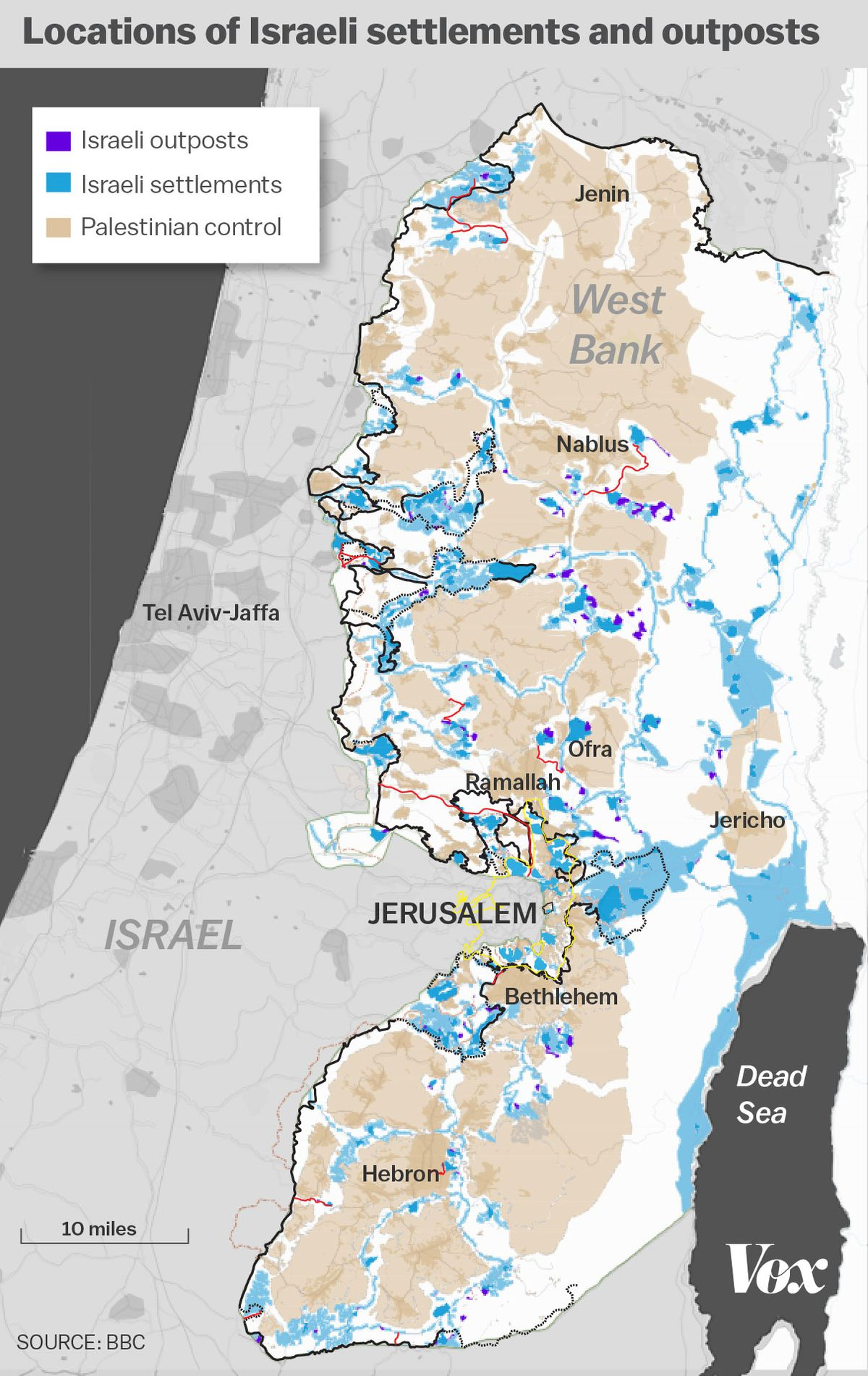 The growth of Israeli settlements, explained in 5 charts - Vox