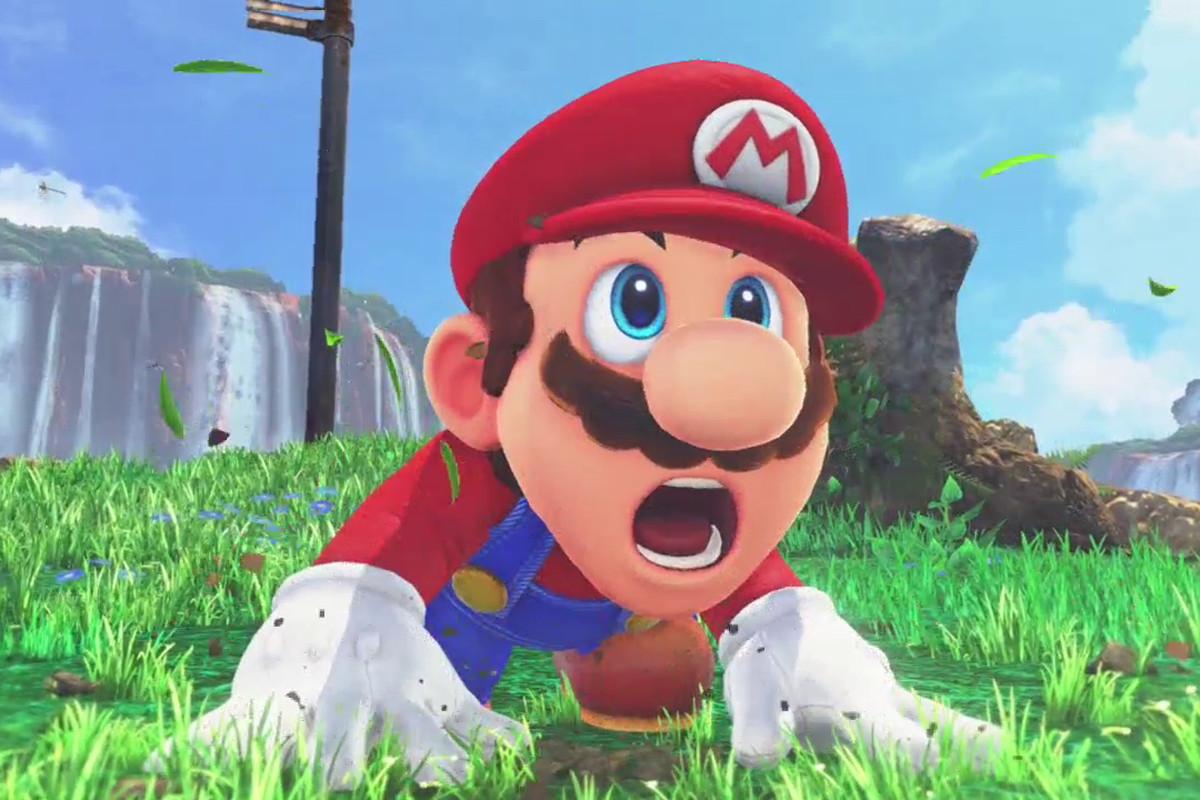 Super Mario Odyssey - shocked Mario