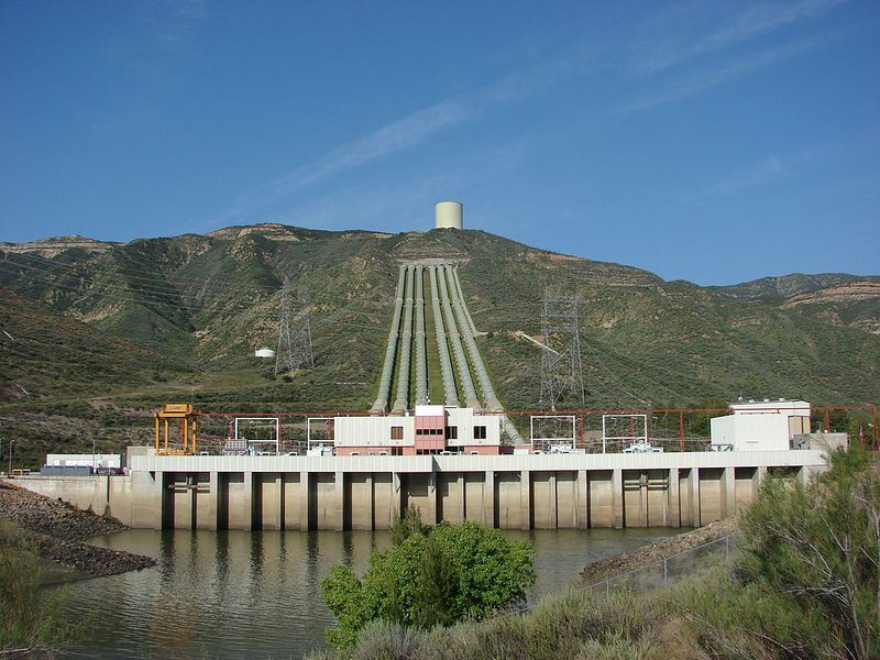 A pumped-hydro energy facility just outside Los Angeles.