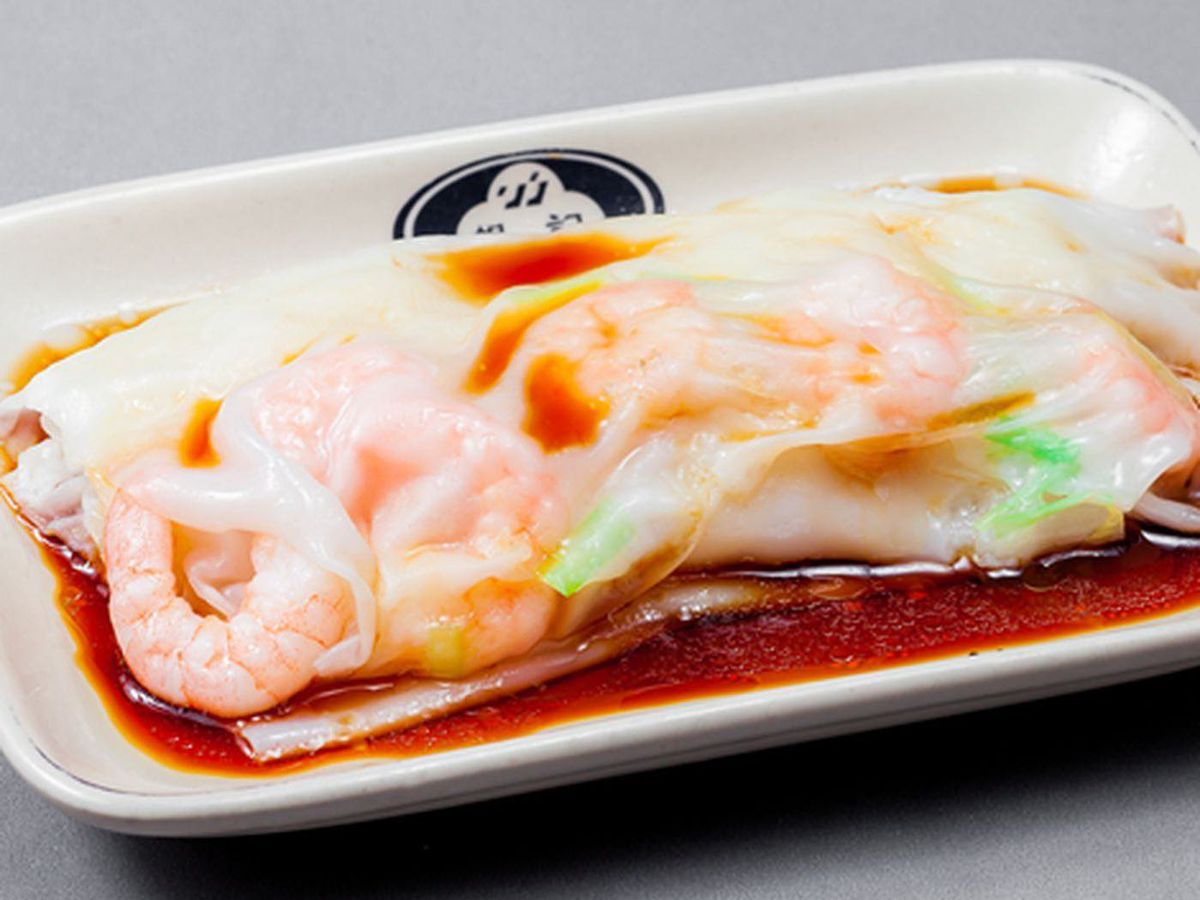 rice roll with shrimp
